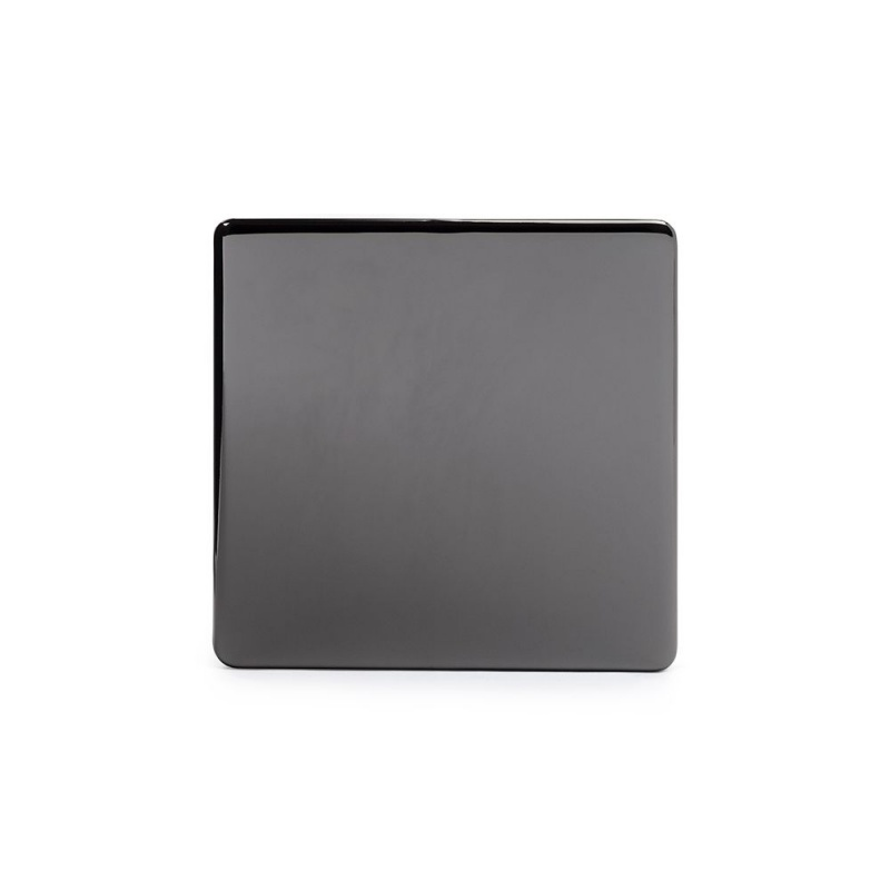The Connaught Collection Black Nickel Metal Single Blanking Plate